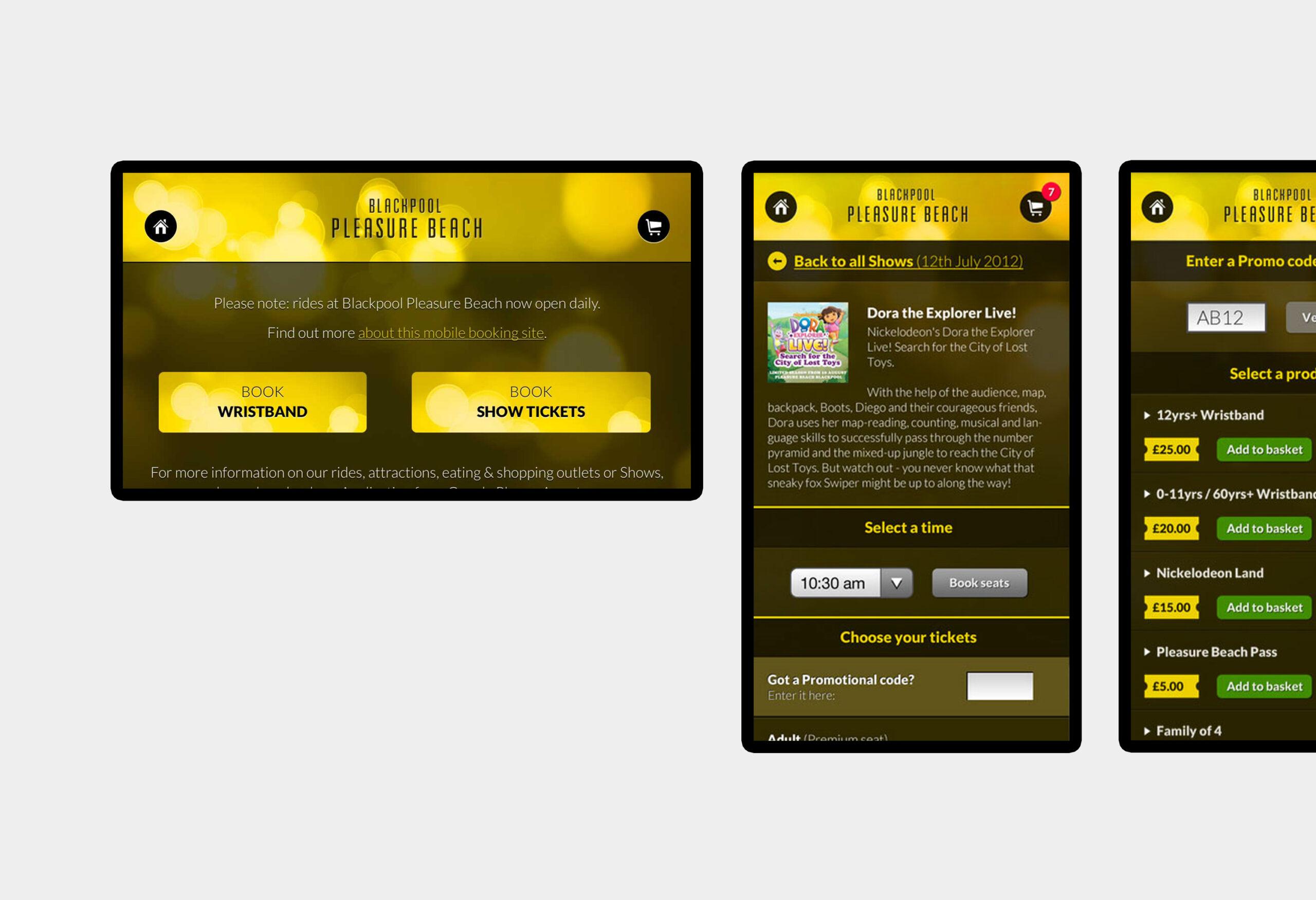 Blackpool Pleasure Beach - mobile website design