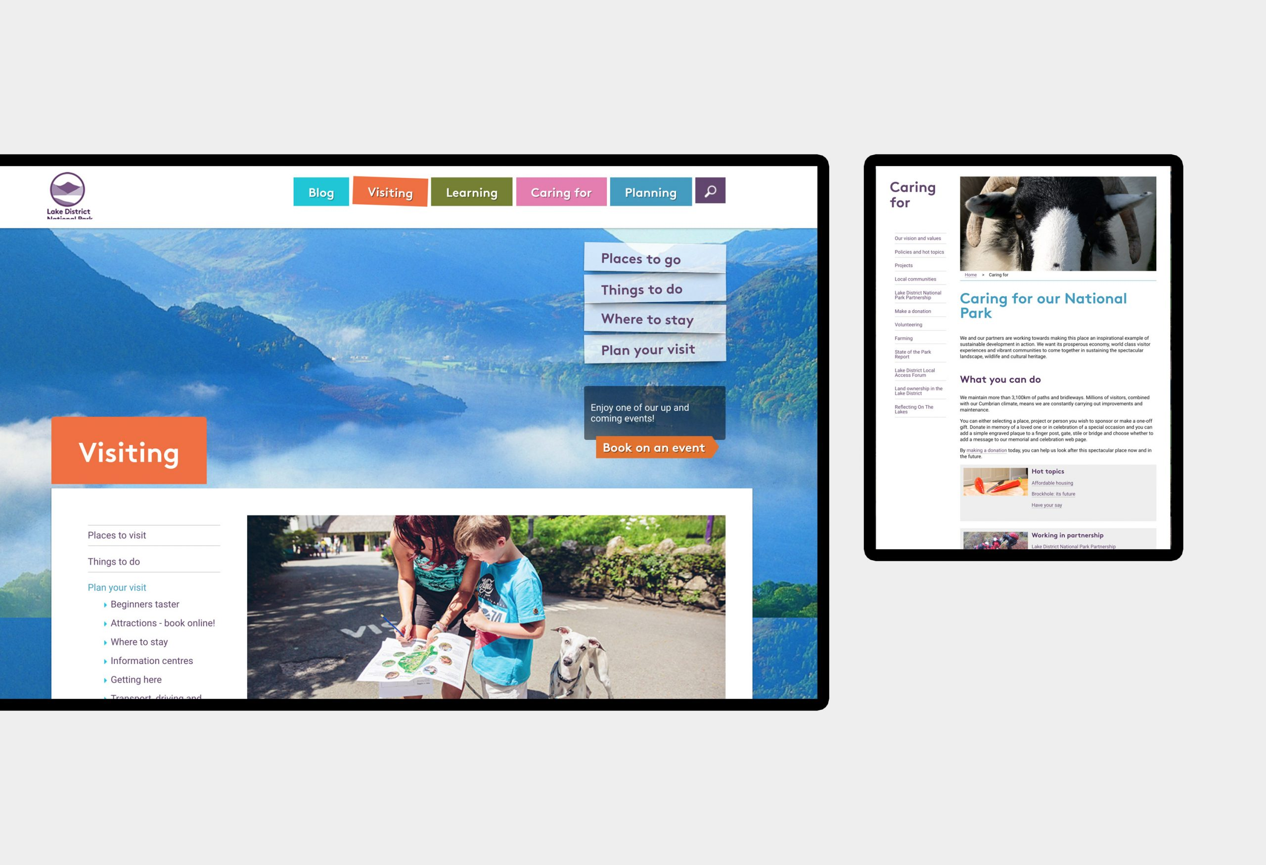 Lake District National Park - website design