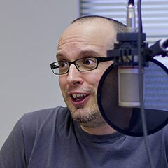 Portrait of Paul Boag podcasting
