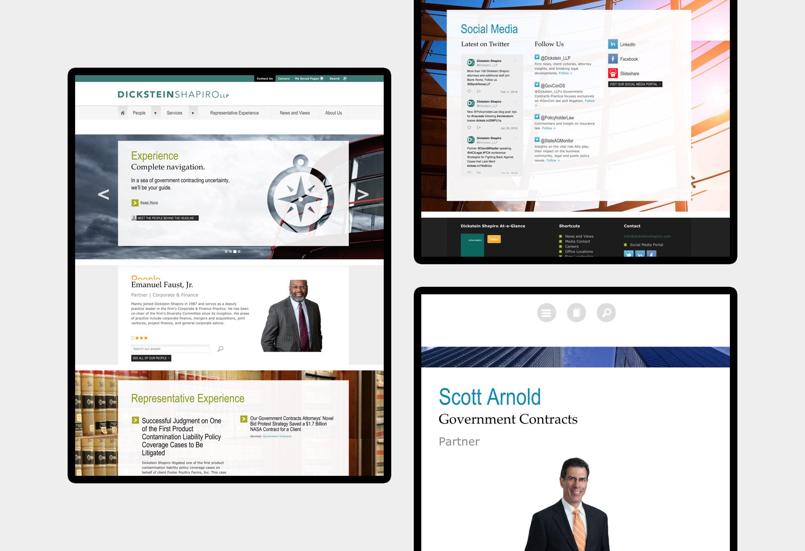 Dickstein Shapiro - website design