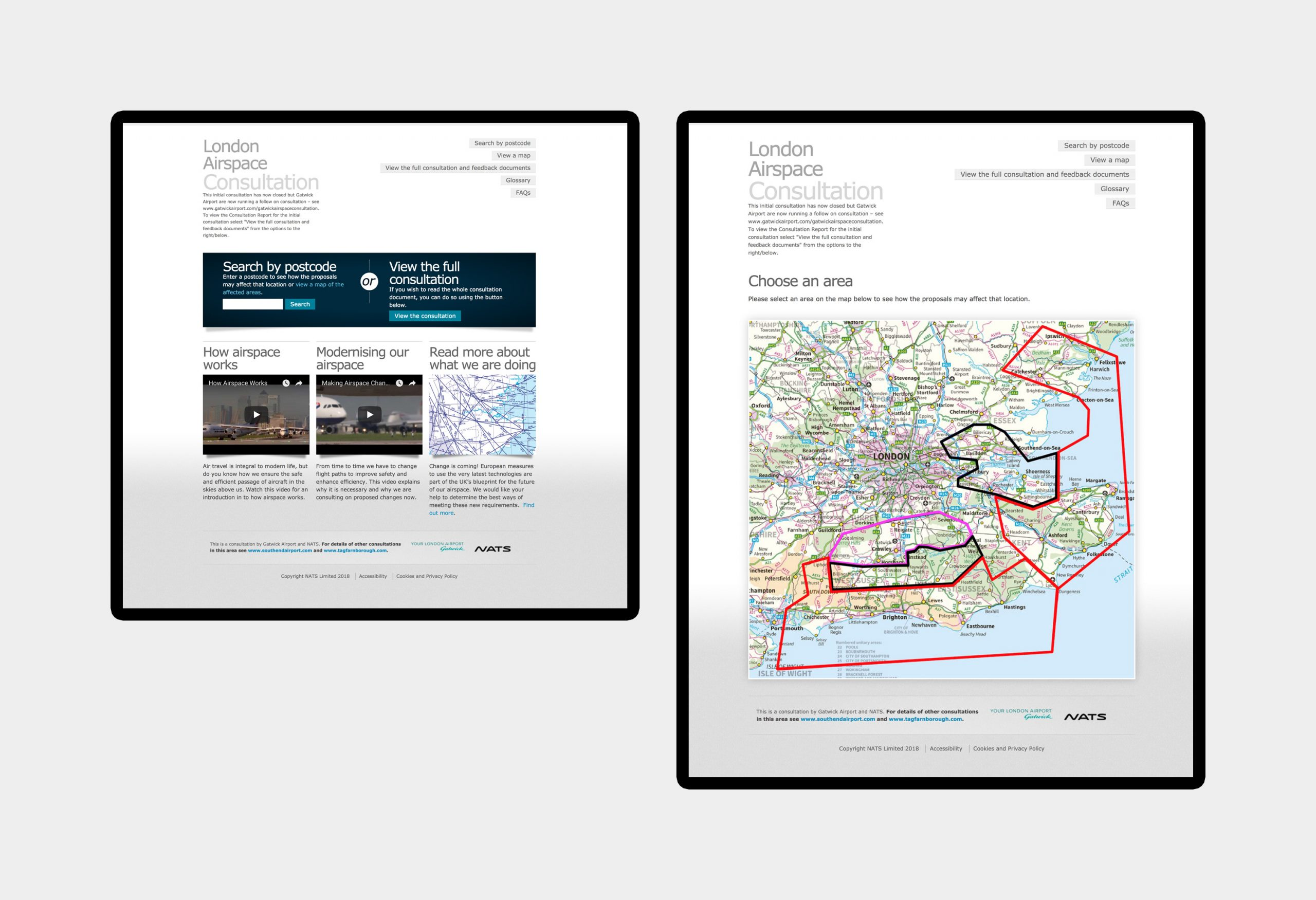 NATS - London Airspace Consultation - website design