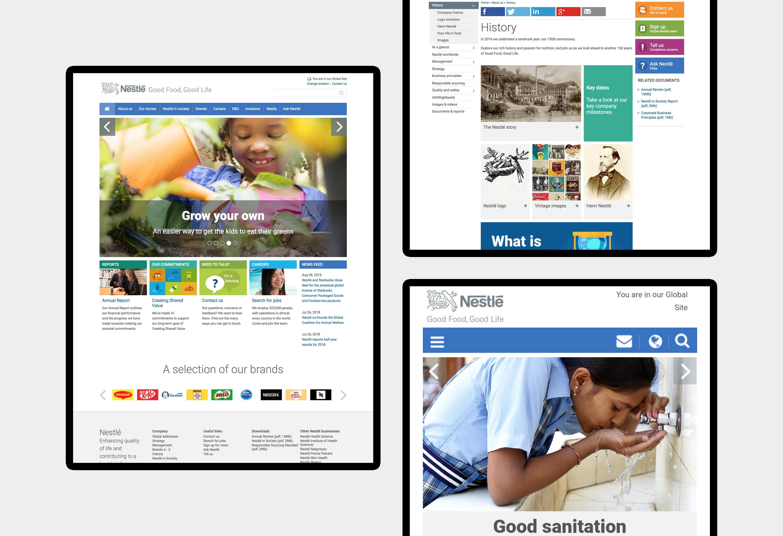 Nestlé - website design