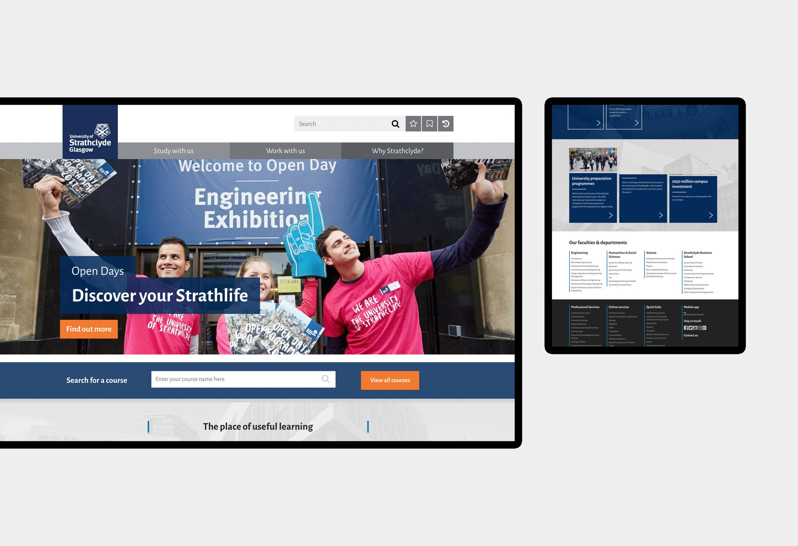 University of Strathclyde - website design
