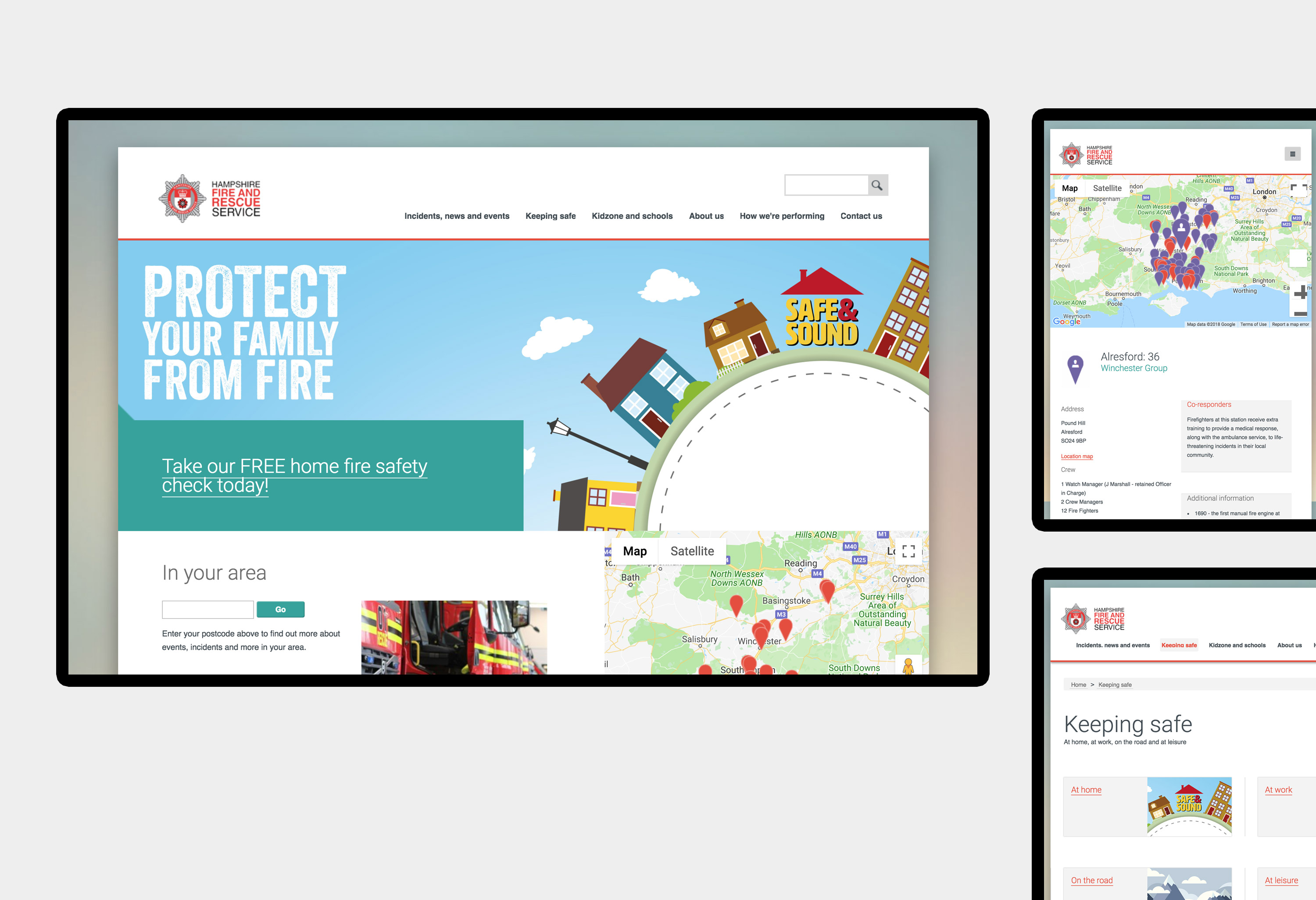 Hampshire Fire and Rescue Service - website design