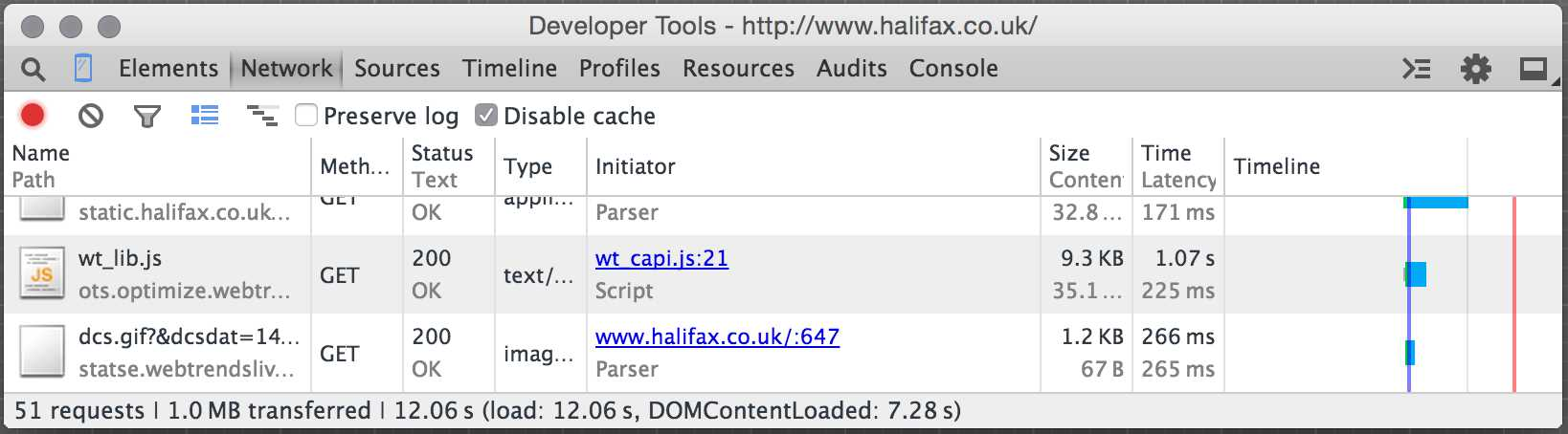 halifax load time 3g