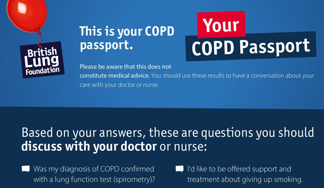 Screenshot taken from the COPD Passport.