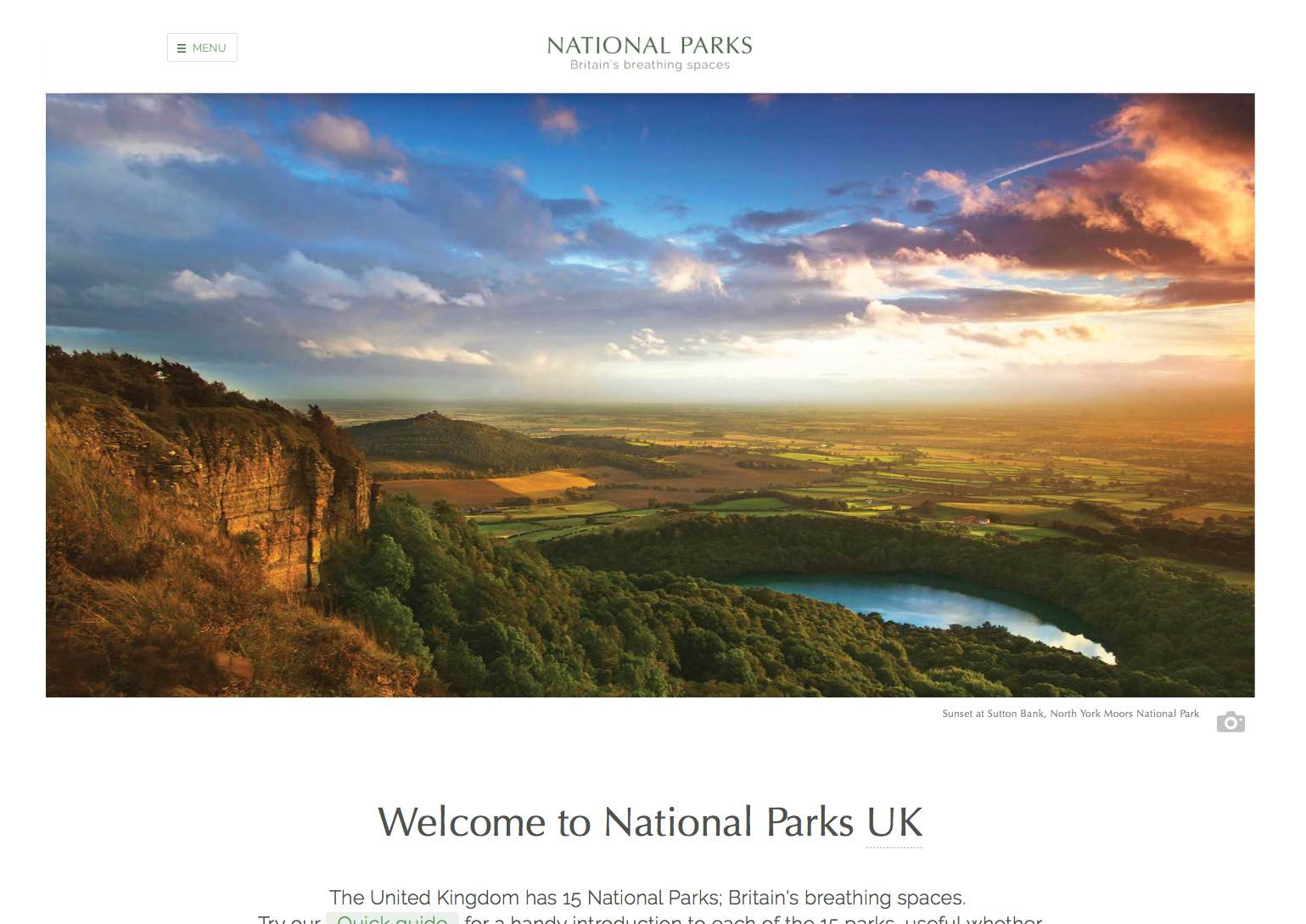 National Parks homepage