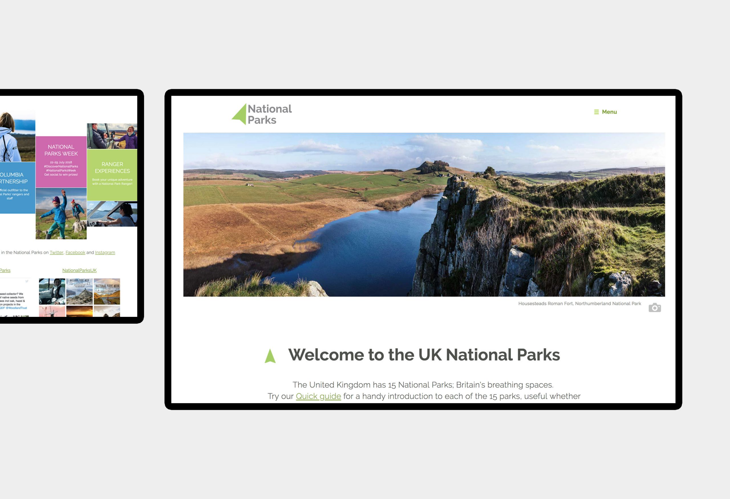 National Parks UK - website design