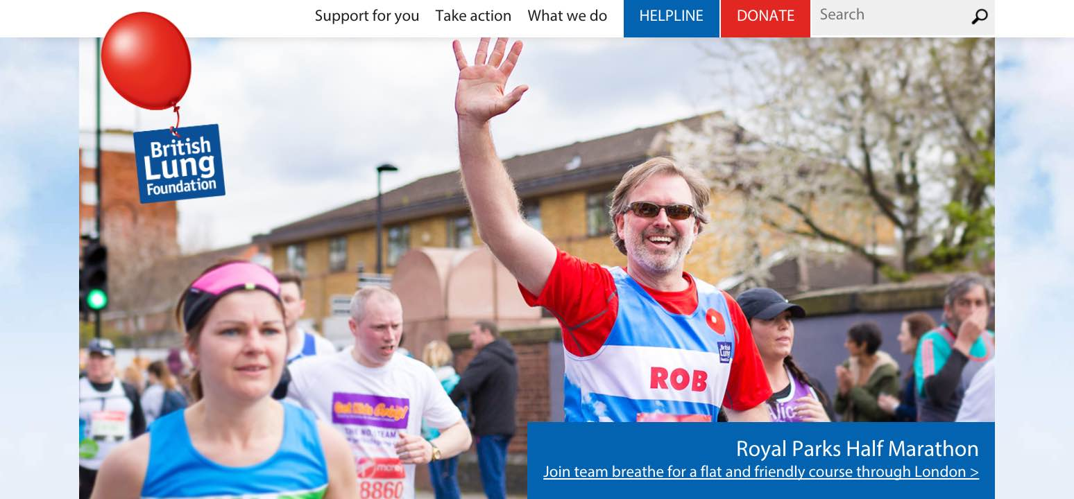 Screenshot from the BLF site covering running challenges