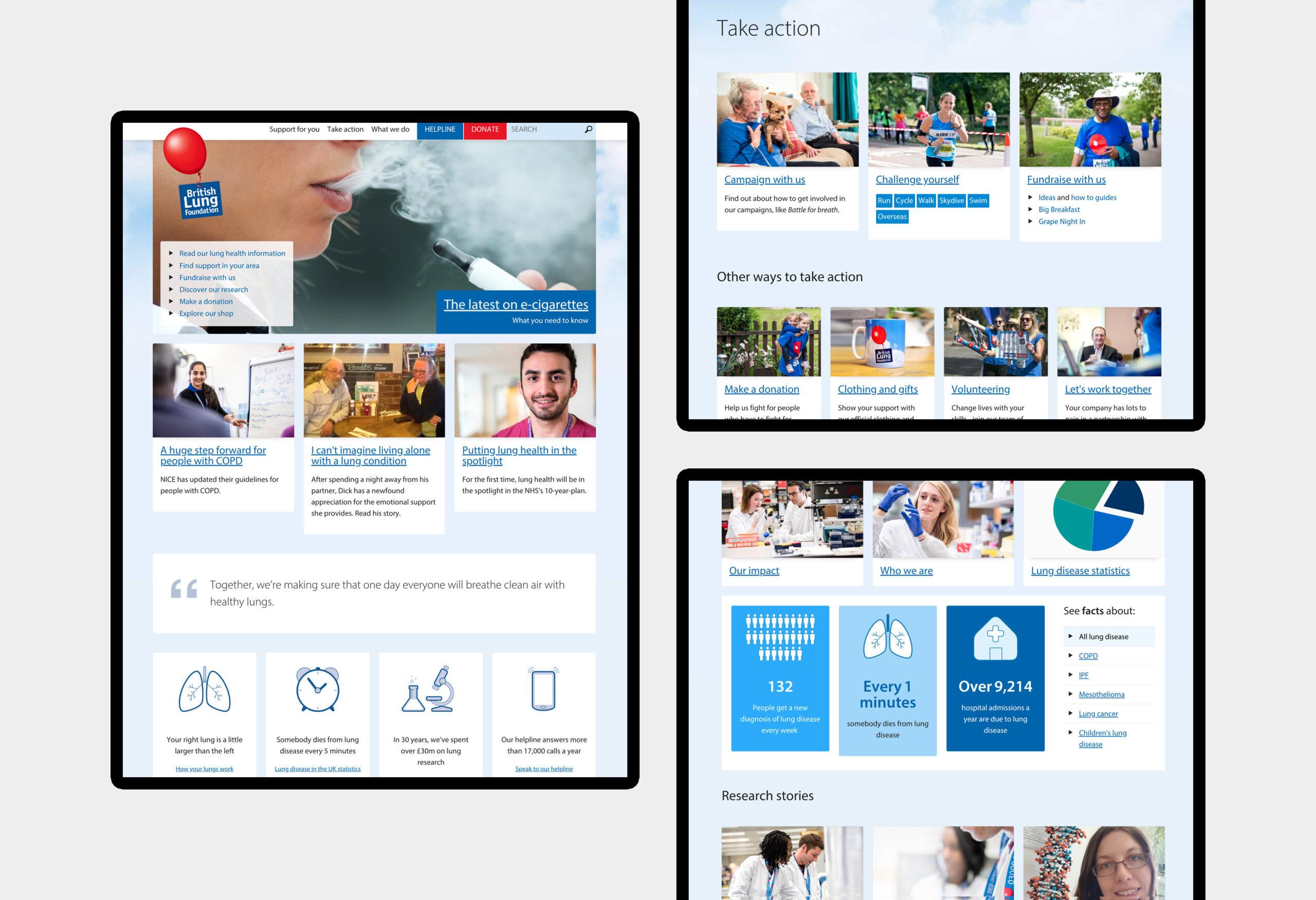 British Lung Foundation - website design