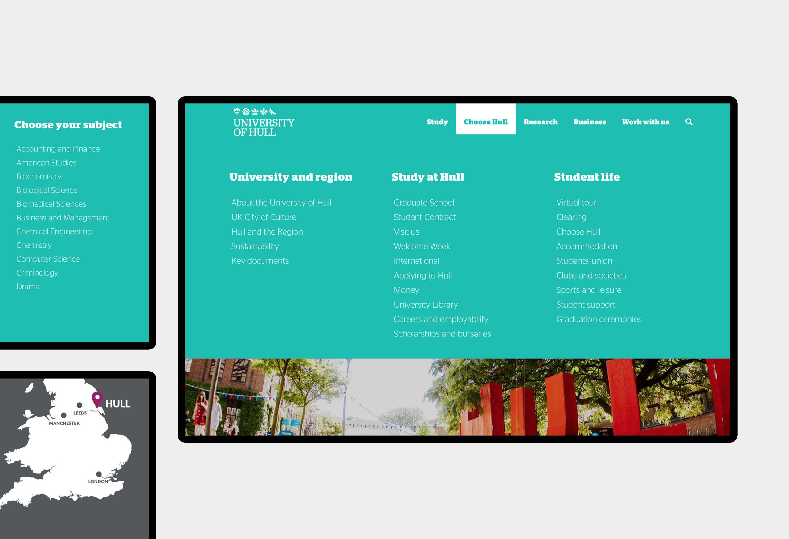 University of Hull - website design