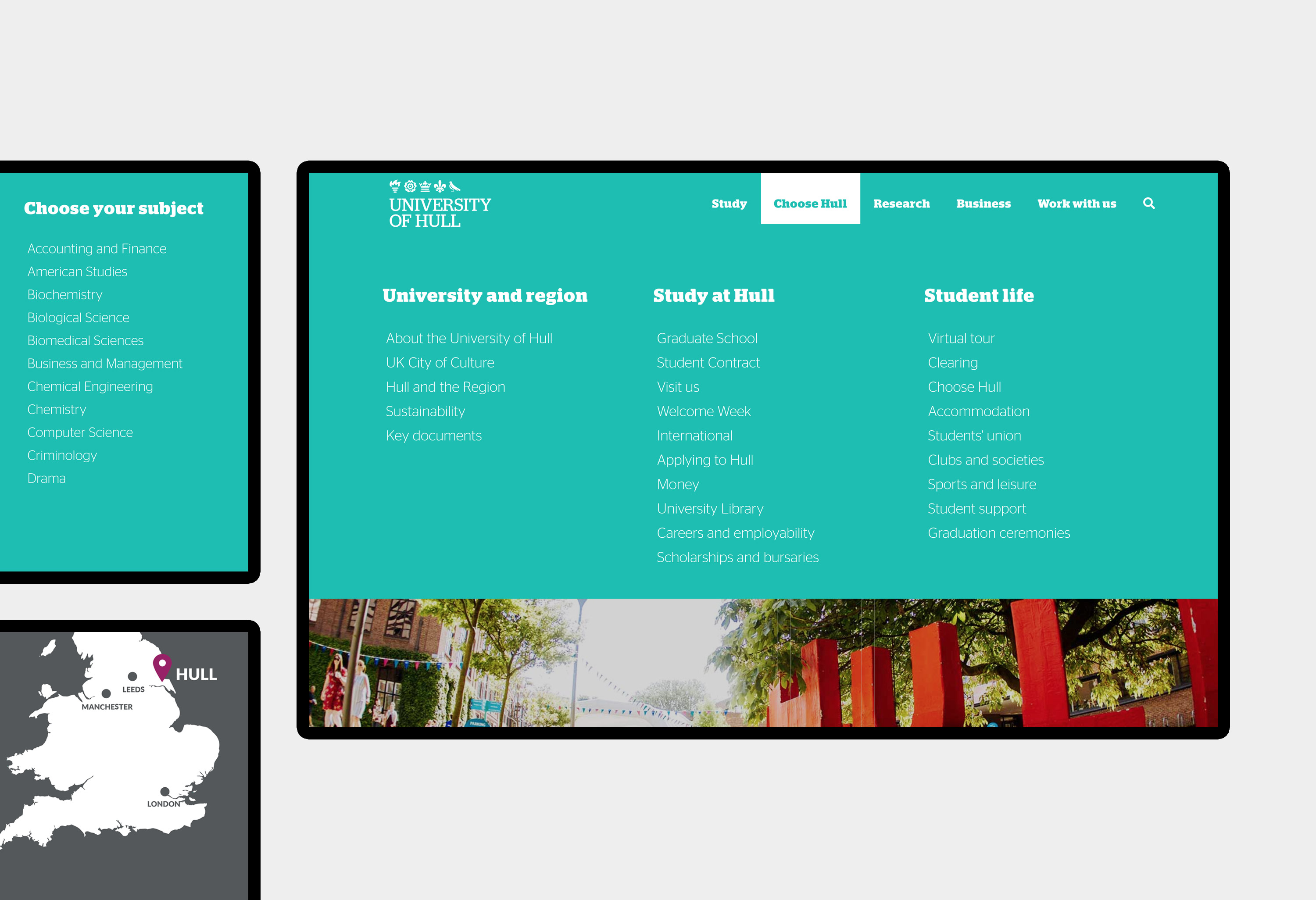 University of Hull - website design