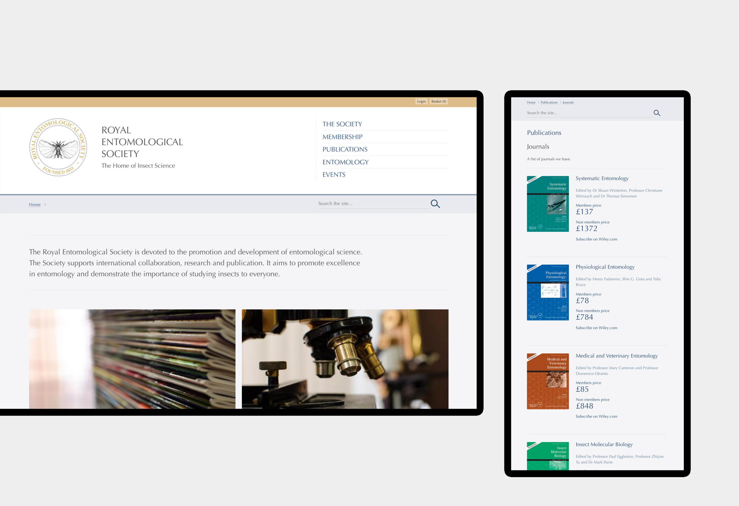 Royal Entomological Society - website design