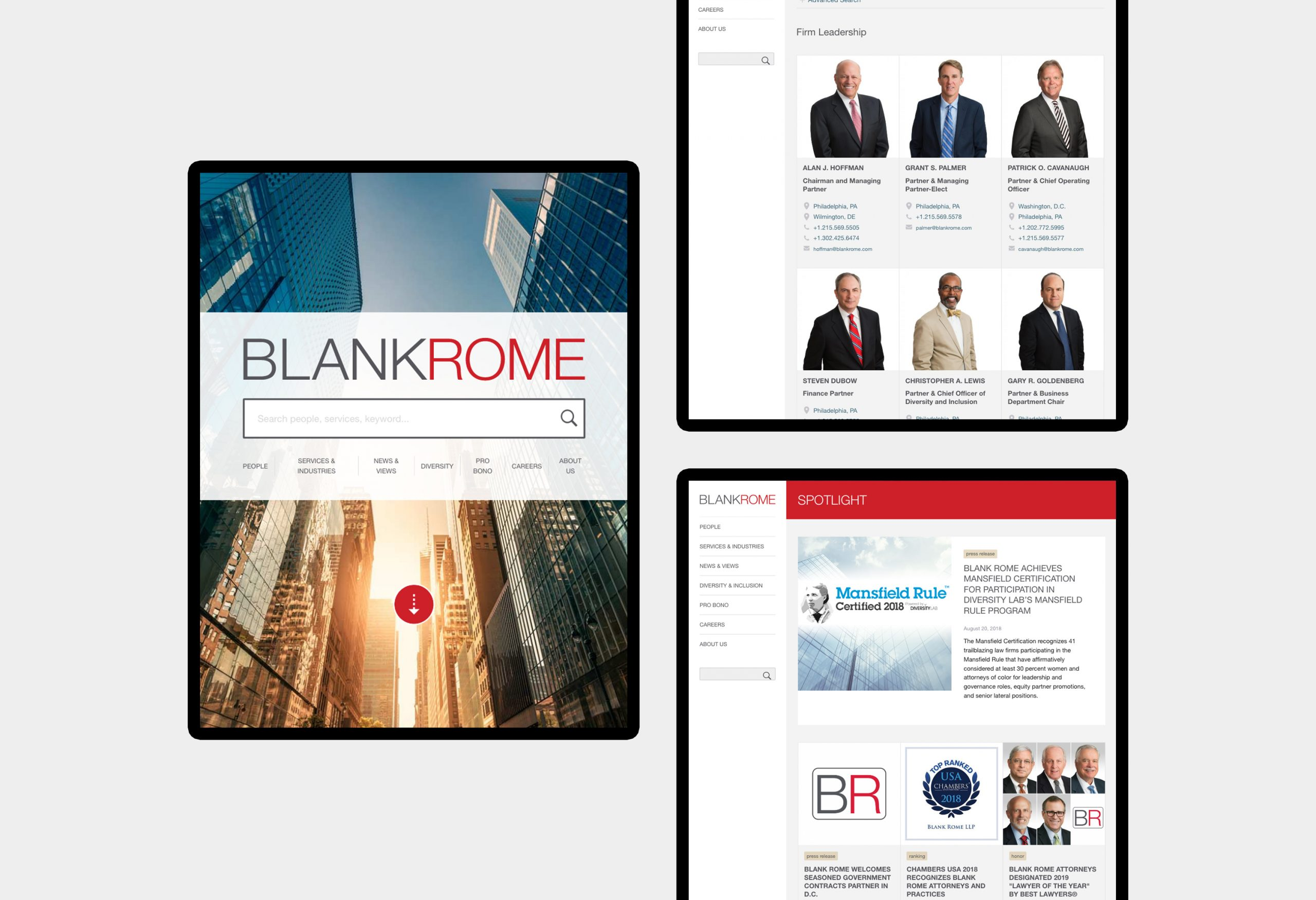 Blank Rome - website design